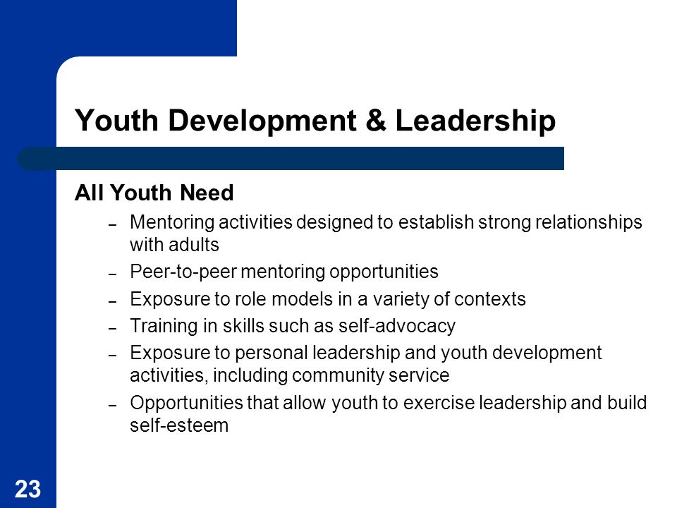 Youth Development & Leadership
