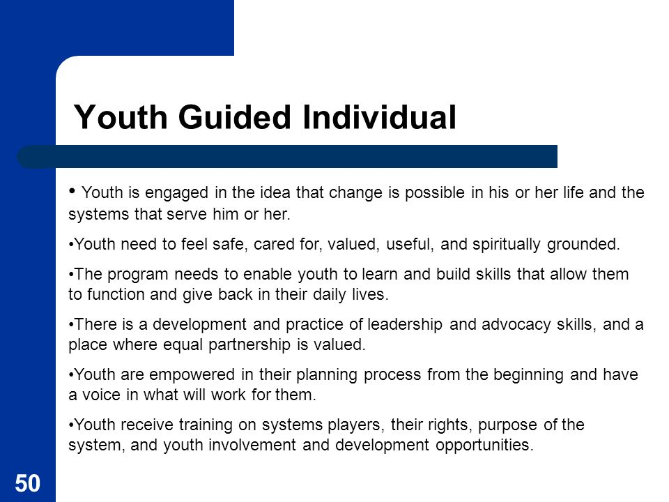 Youth Guided Individual