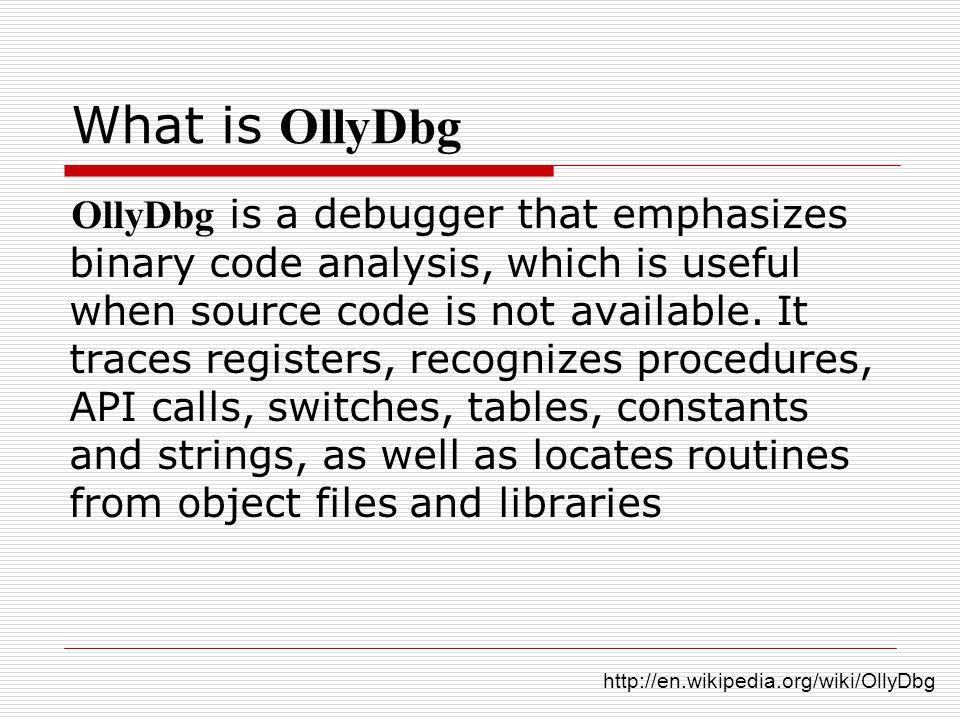 OllyDbg Debuger  - ppt video online download