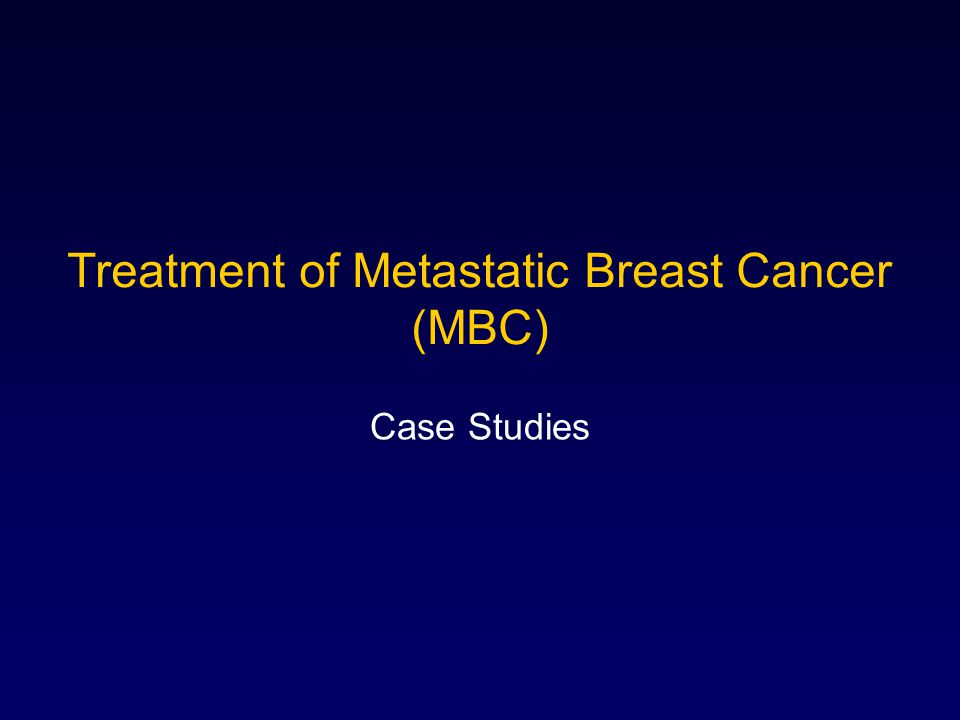 breast cancer case study ppt
