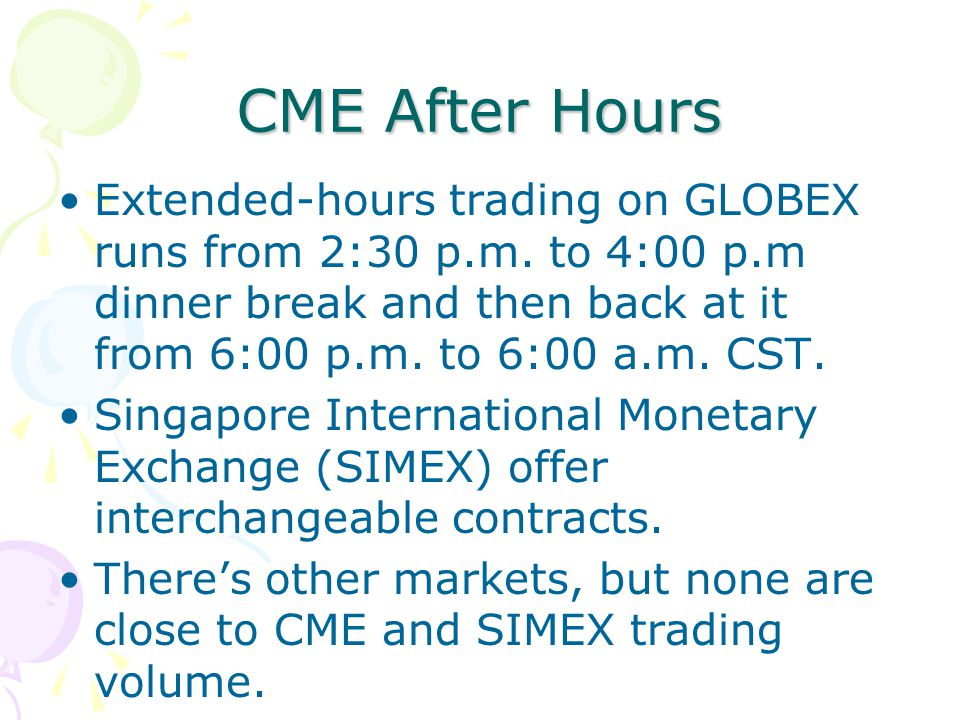 Globex forex options trading hours interactive brokers