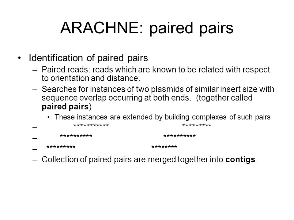 ARACHNE: paired pairs Identification of paired pairs
