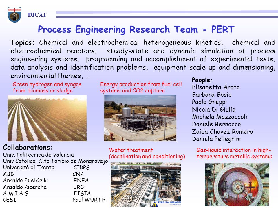Process Engineering Research Team - PERT