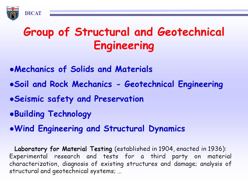 Group of Structural and Geotechnical Engineering