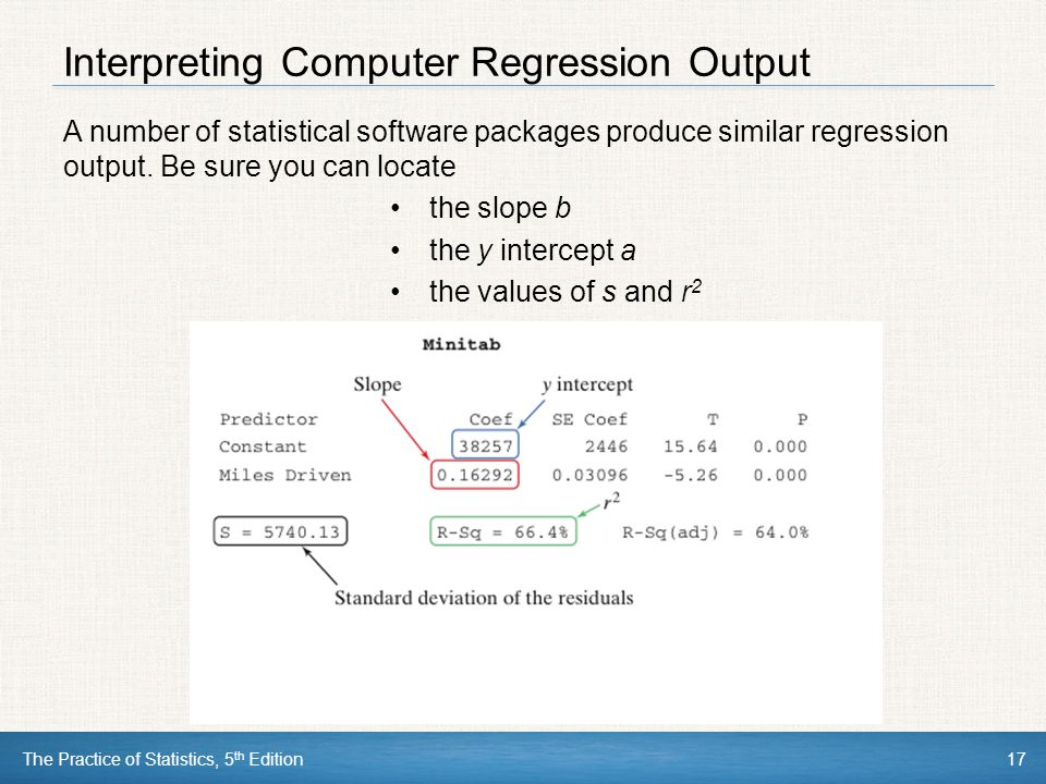 Interpreting Computer Regression Output