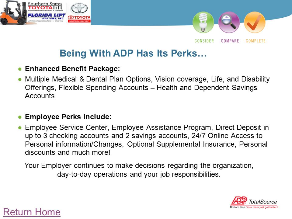 Being With ADP Has Its Perksu2026