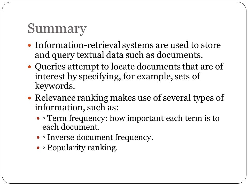 examples of information retrieval systems