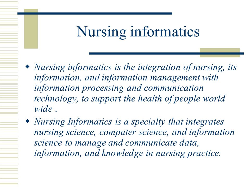 Introduction to Nursing Informatics (Health Informatics)