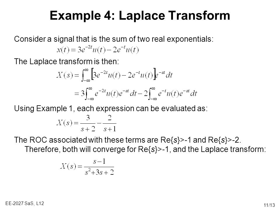 Example 4: Laplace Transform