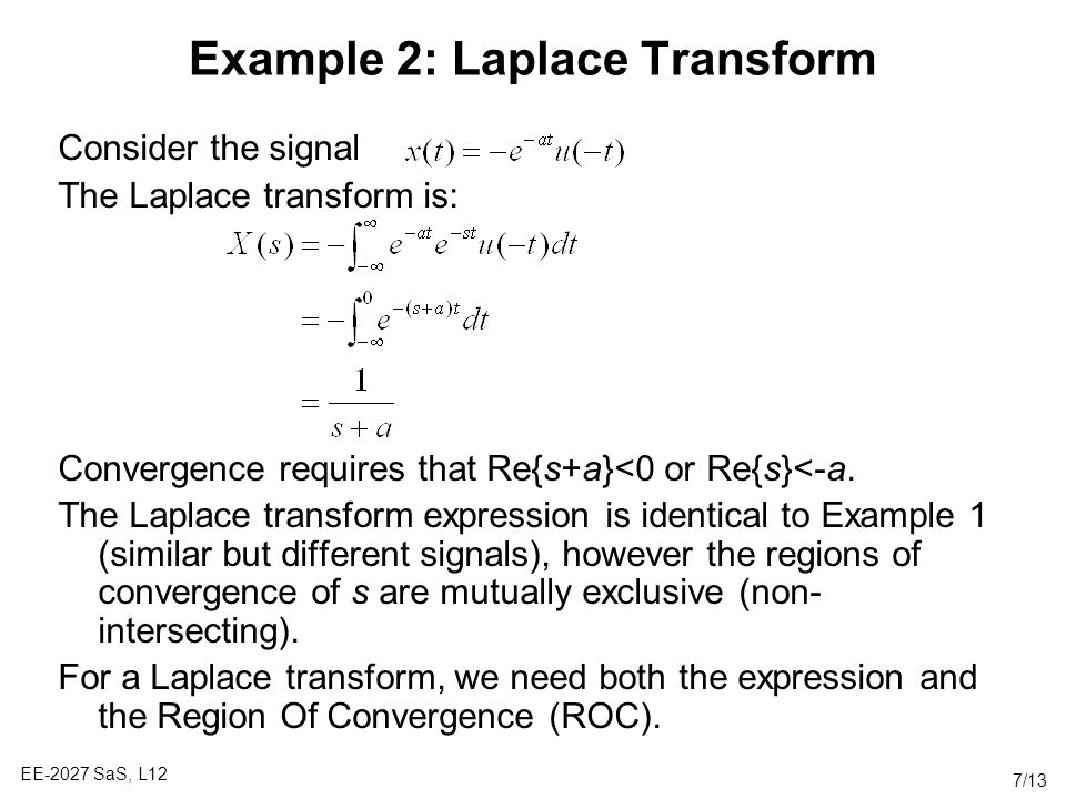 Example 2: Laplace Transform