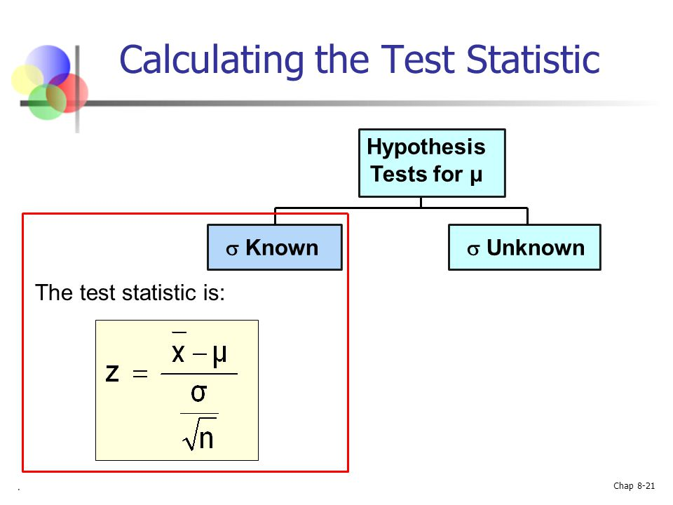 Calculating the Test Statistic