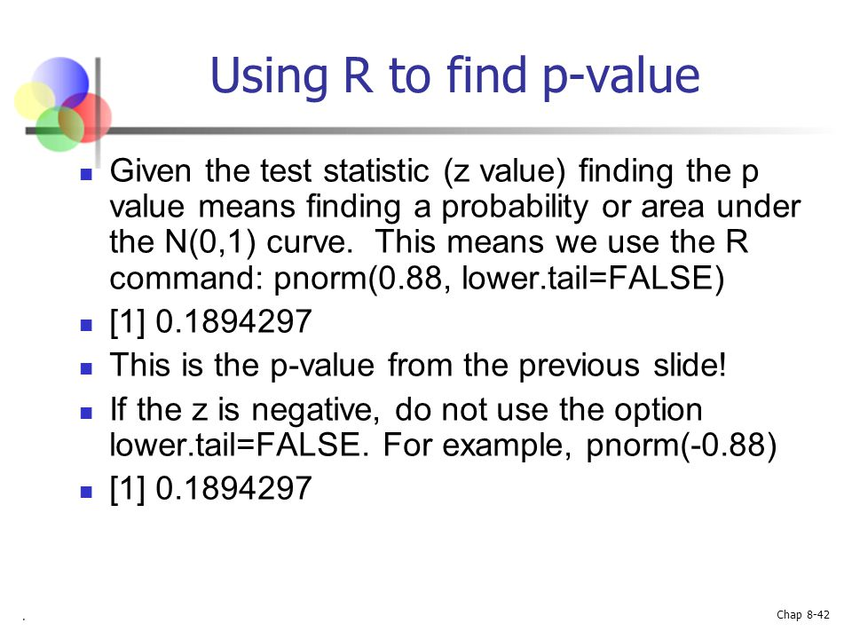 Using R to find p-value