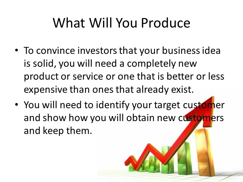 What Will You Produce