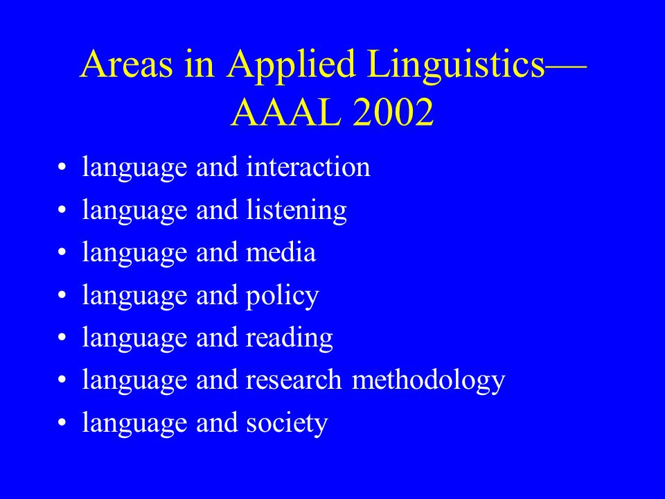 thesis topics on applied linguistics