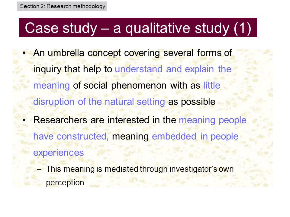 case studies in research methodology