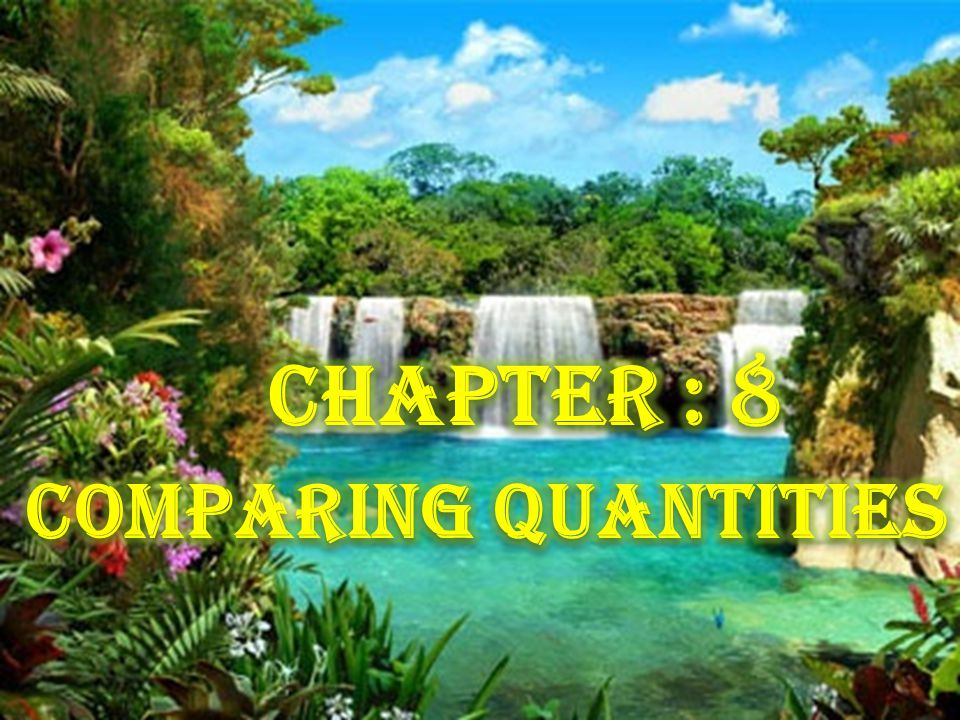 Maths Project Work Maths Project Work Chapter 8 Comparing