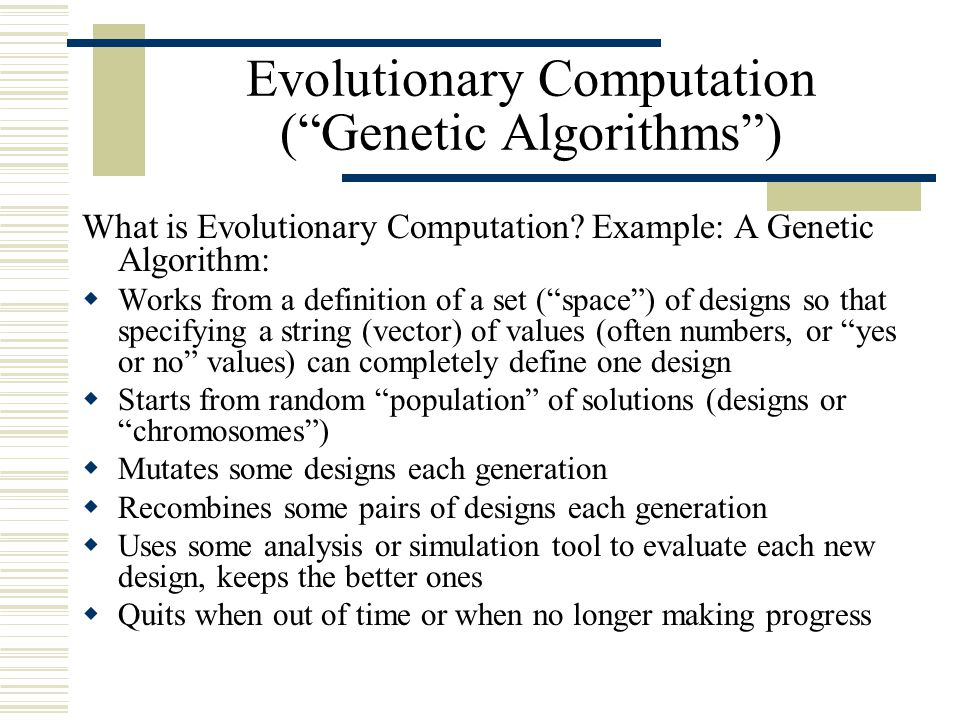 Introduction To Genetic Algorithms Ppt Download