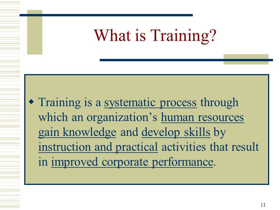 difference between training and development pdf