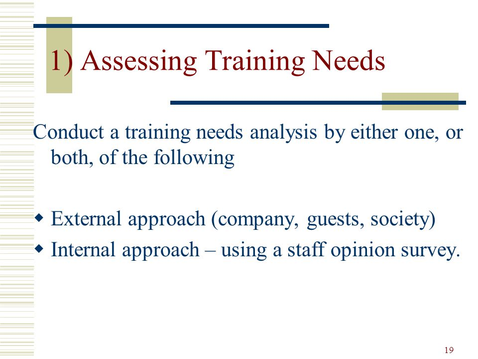 how to conduct training need analysis ppt