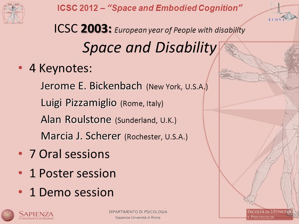 ICSC 2003: European year of People with disability Space and Disability