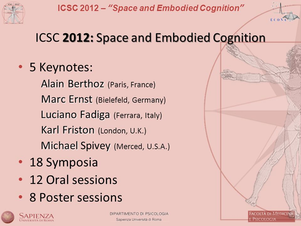 ICSC 2012: Space and Embodied Cognition
