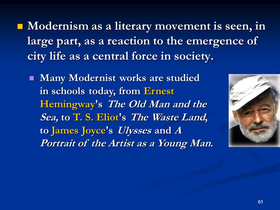 modernism in the old man and the sea