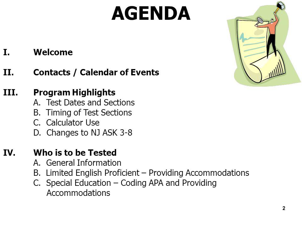 welcome district test coordinator training ppt download rh slideplayer com Reference Sheet NJ NJ Ask Sucks