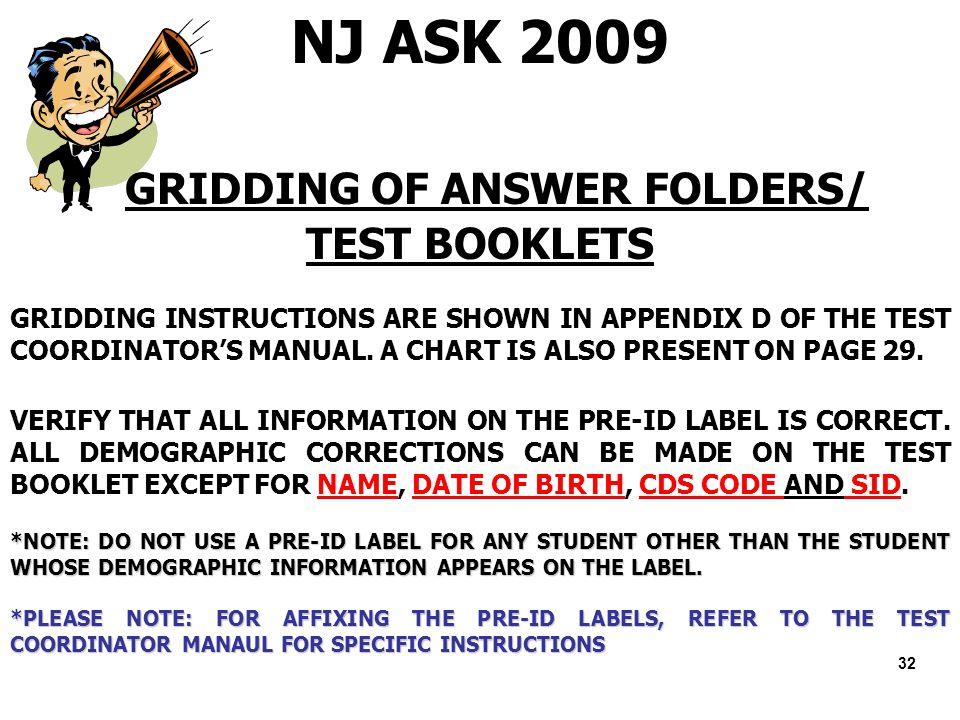 welcome district test coordinator training ppt download rh slideplayer com Reference Sheet NJ NJ Ask Writing Prompts