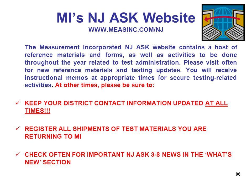 welcome district test coordinator training ppt download rh slideplayer com NJ Ask Test Prep NJ Ask Test Prep