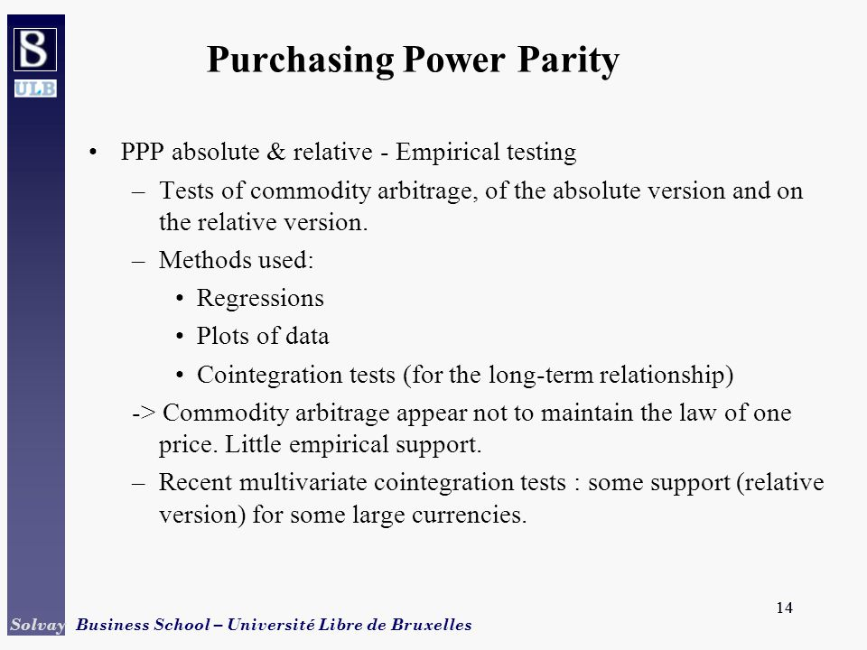 Purchasing power parity absolute vs relative dating