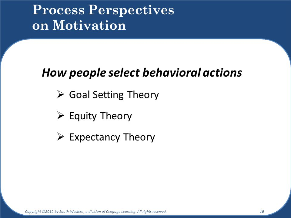 Process Perspectives on Motivation