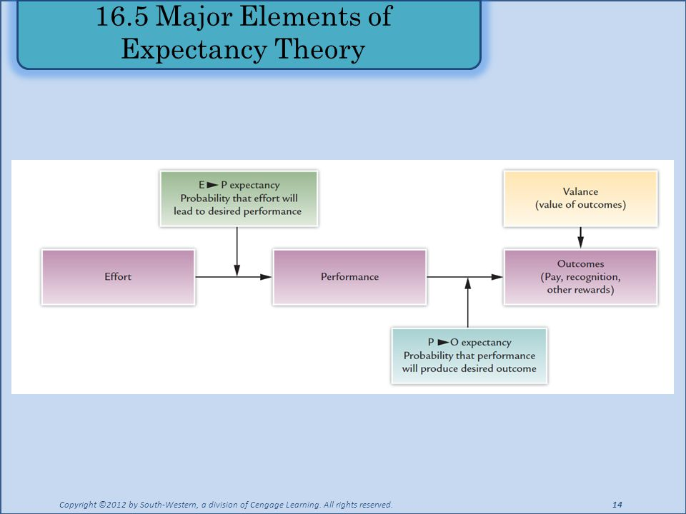 16.5 Major Elements of Expectancy Theory
