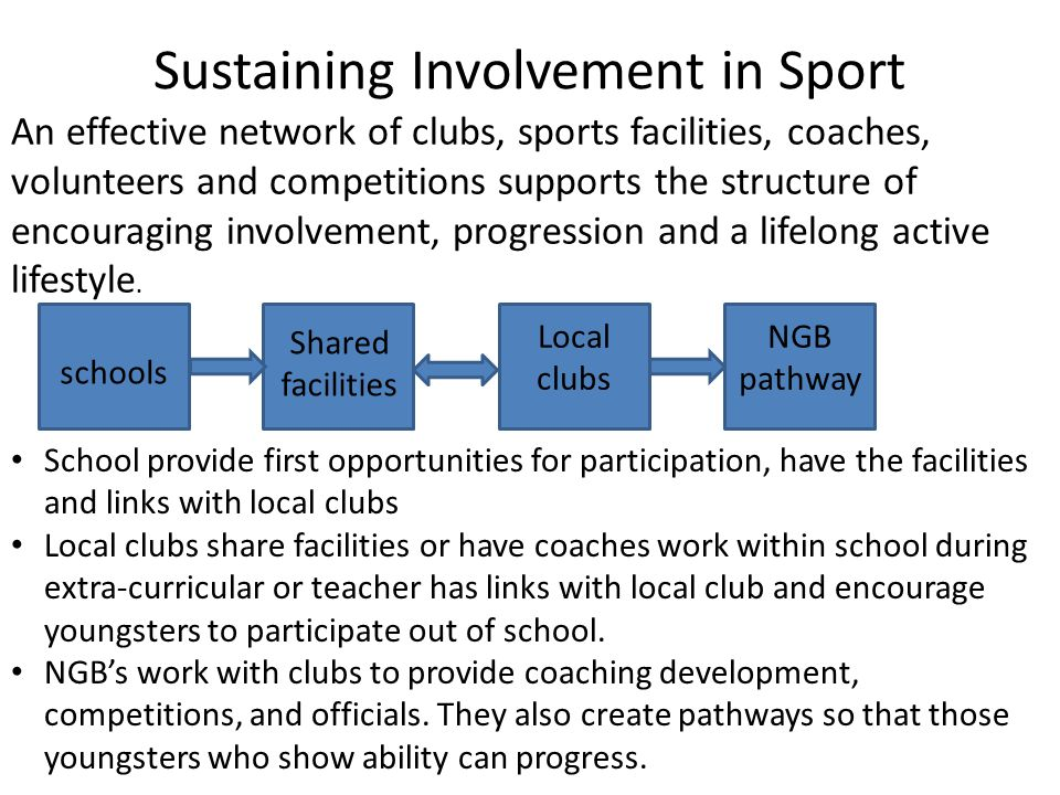 Sustaining Involvement in Sport
