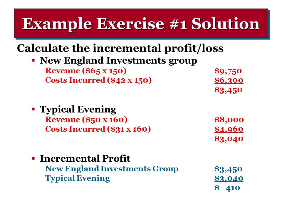 what is incremental profit