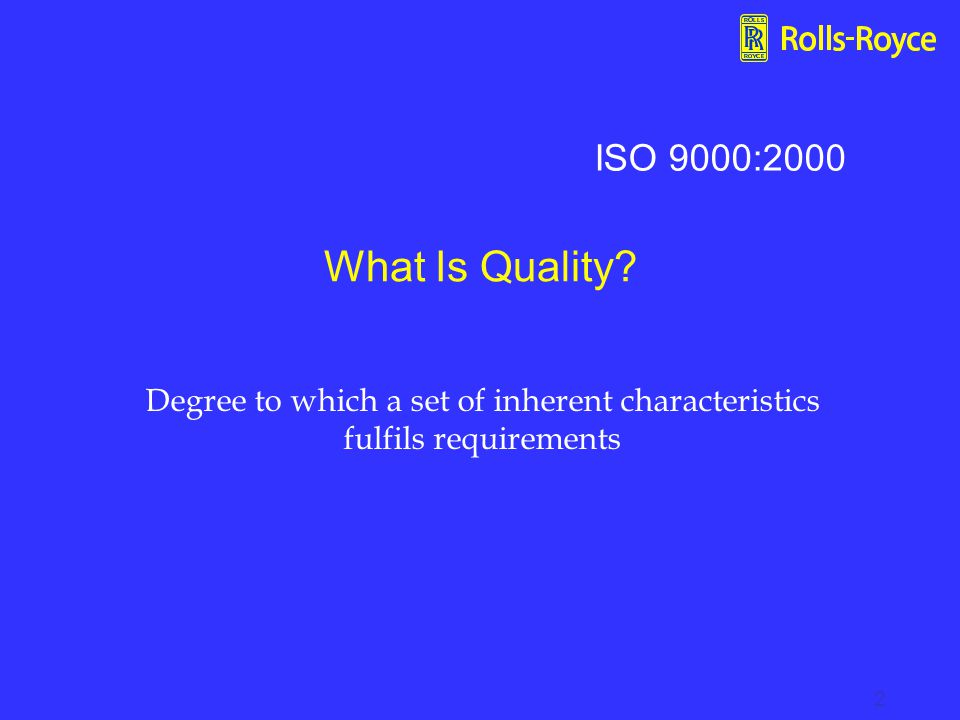 Degree to which a set of inherent characteristics fulfils requirements