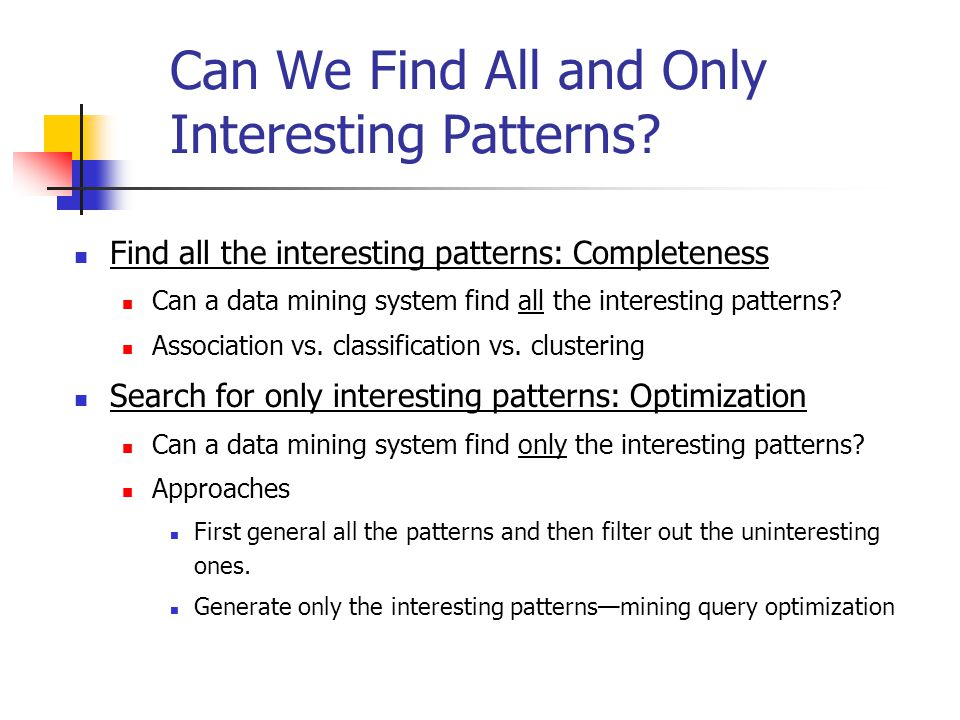 Can We Find All and Only Interesting Patterns
