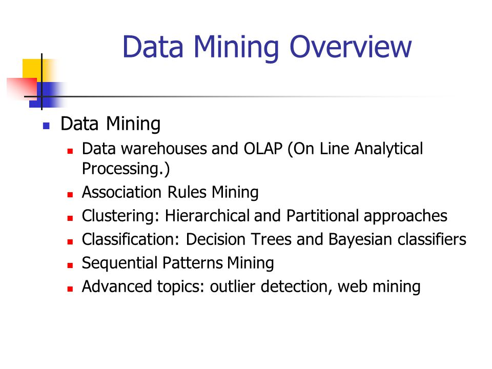 Data Mining Overview Data Mining