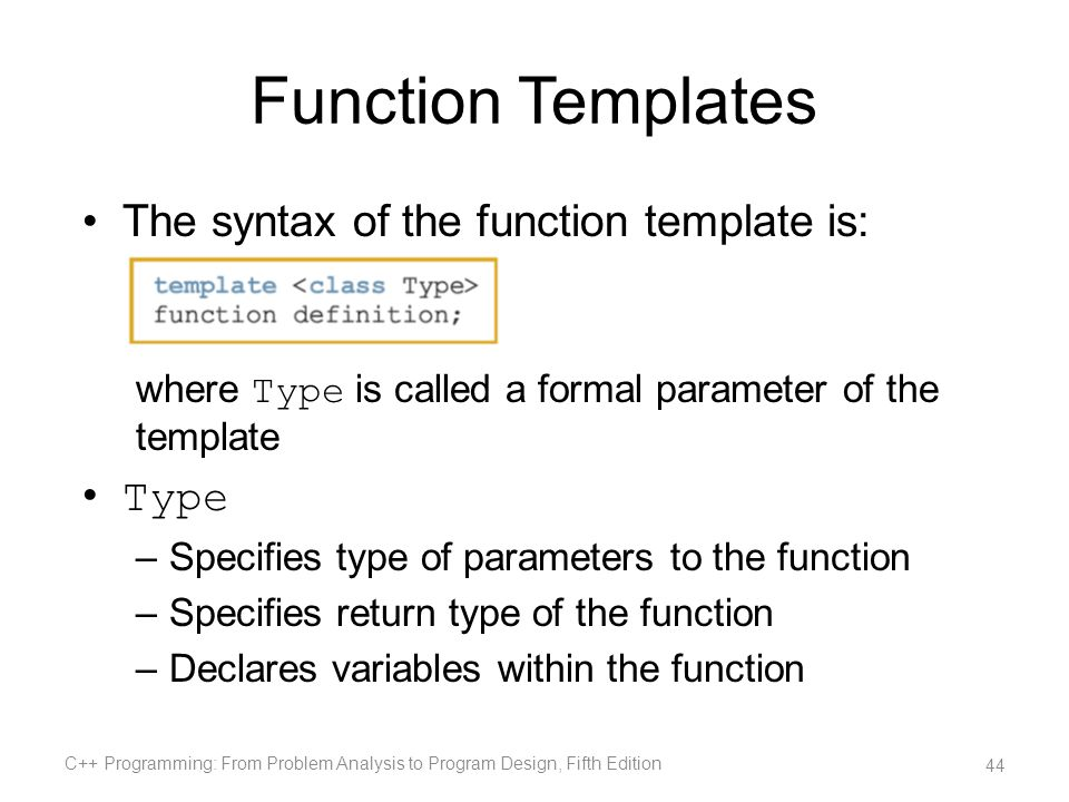 Chapter 15 operator overloading ppt download 44 function templates maxwellsz