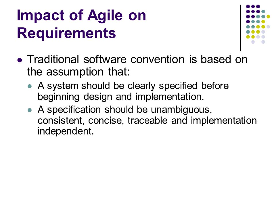 Impact of Agile on Requirements