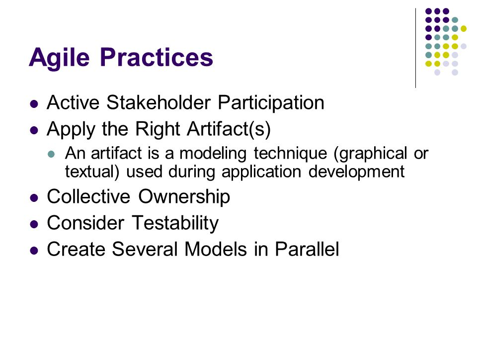 Agile Practices Active Stakeholder Participation