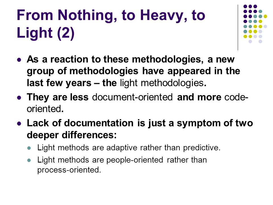 From Nothing, to Heavy, to Light (2)