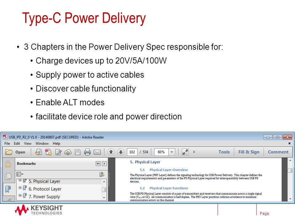 Type C Power Delivery 3 Chapters In The Spec