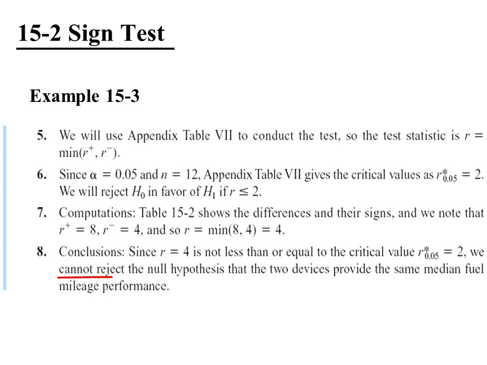 15-2 Sign Test Example 15-3