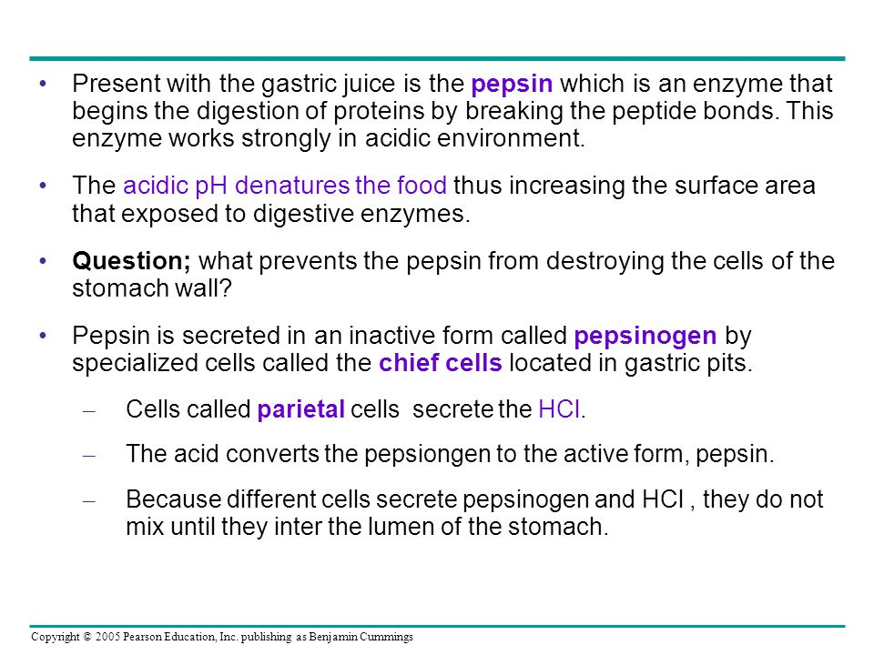 inactive form of pepsin