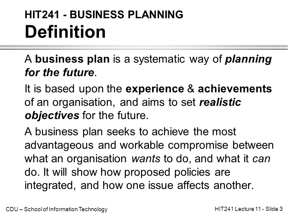 what is business plan definition