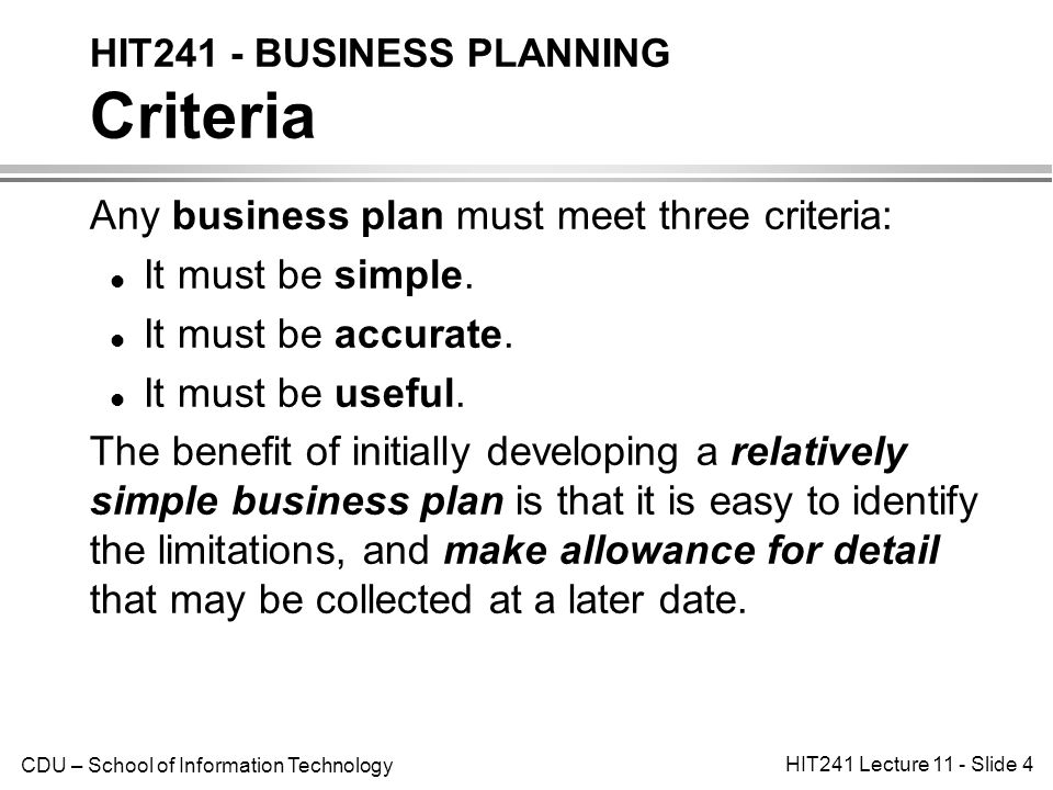 how to do a simple business plan