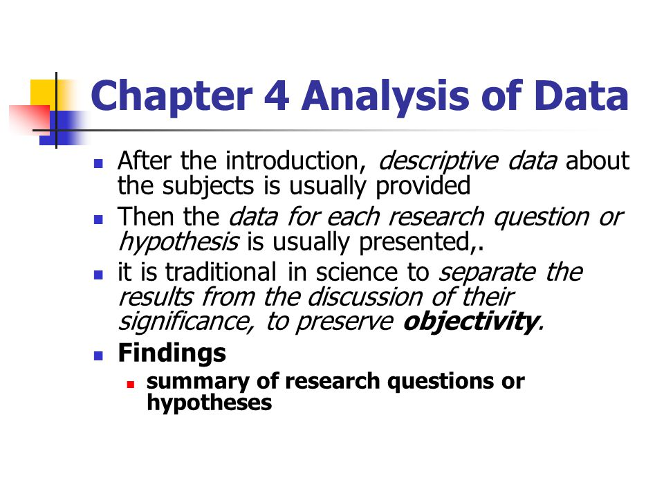 Chapter 4 Analysis of Data