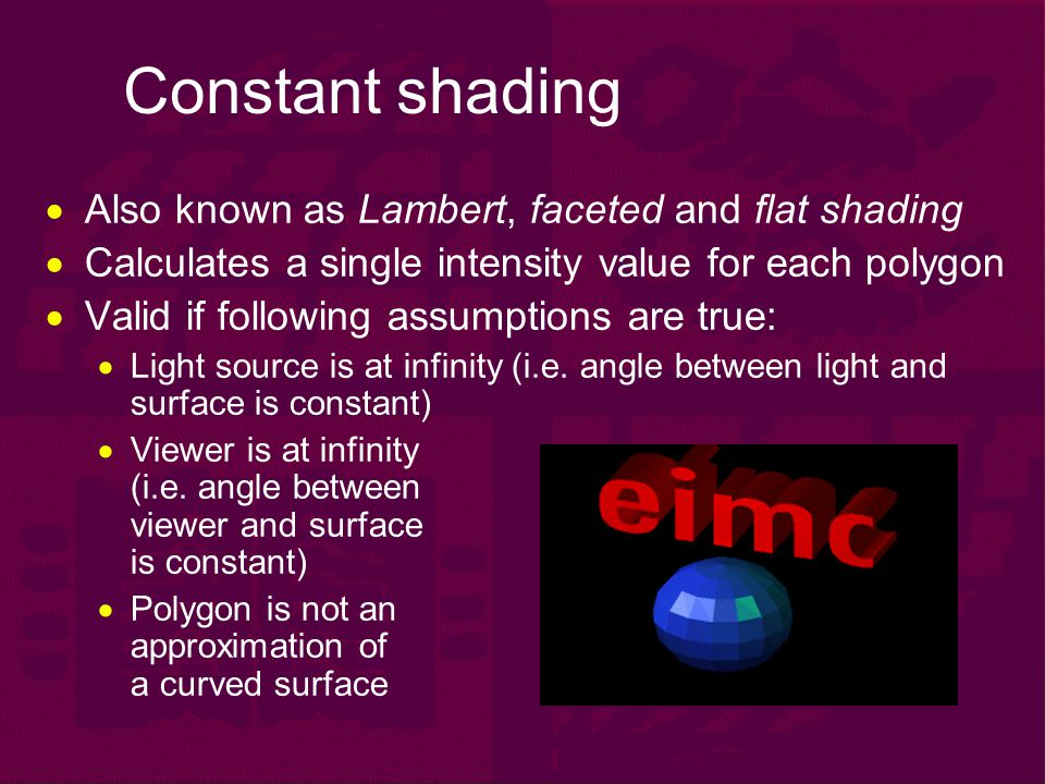 Shading, Surfaces & Textures - ppt video online download