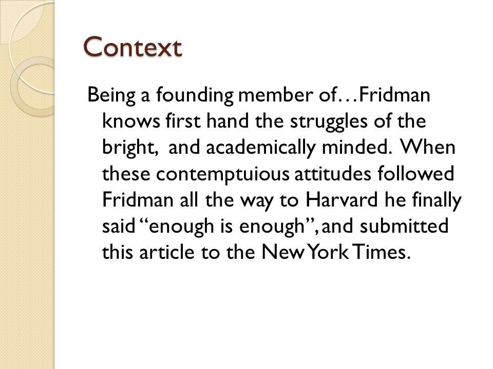 leonid fridman nerds essay
