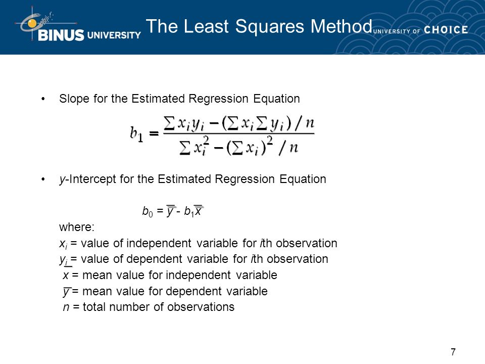 The Least Squares Method